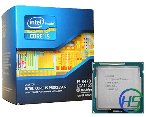 Intel Core i5-3470 (3.2GHz turbo up 3.6GHz, 6MB L3 cache, Socket 1155)