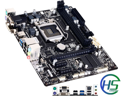 Gigabyte B85M-D2V (rev. 1.1) socket 1150 like new - BH 36 tháng